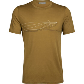 Icebreaker Tech Lite Single Line Whale SS Crew Top Men curry